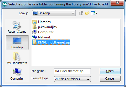 Select zip library