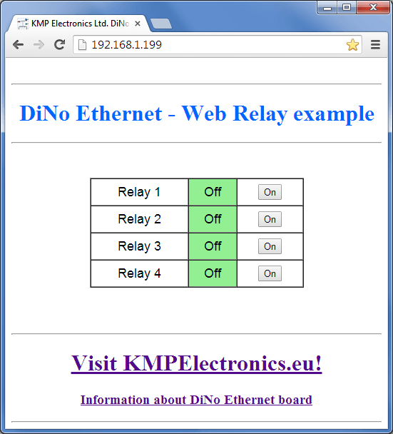 ProDino Ethernet relay example