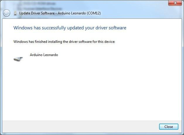 The driver has been installed