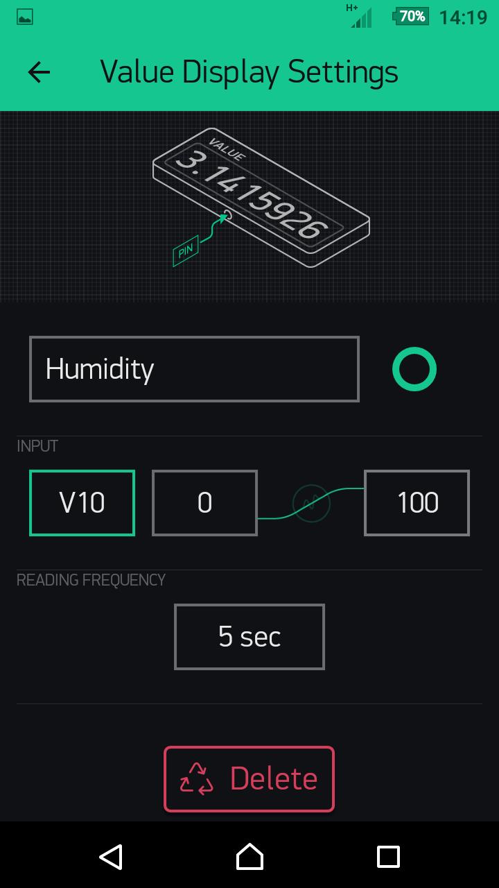 PRODINo WiFi Examples Blynk Humidity