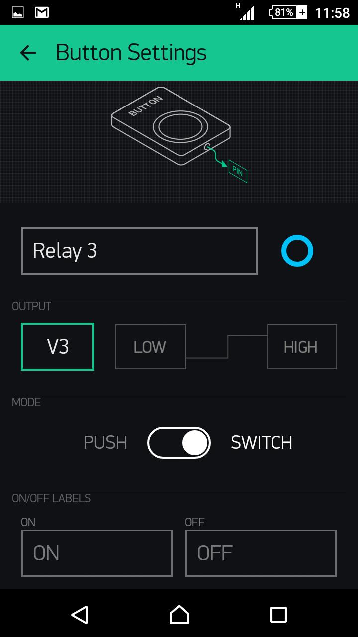 PRODINo WiFi Examples Blynk relay