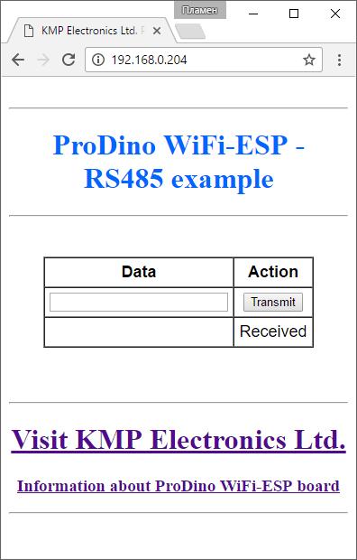PRODINo WiFi ESP RS485