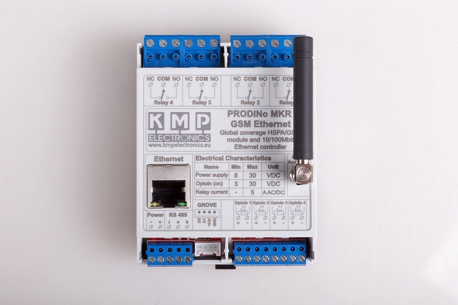 Prodino Mkr Gsm Ethernet V1 Kmp Electronics Ltd No And Nc Contacts Of Relay Top