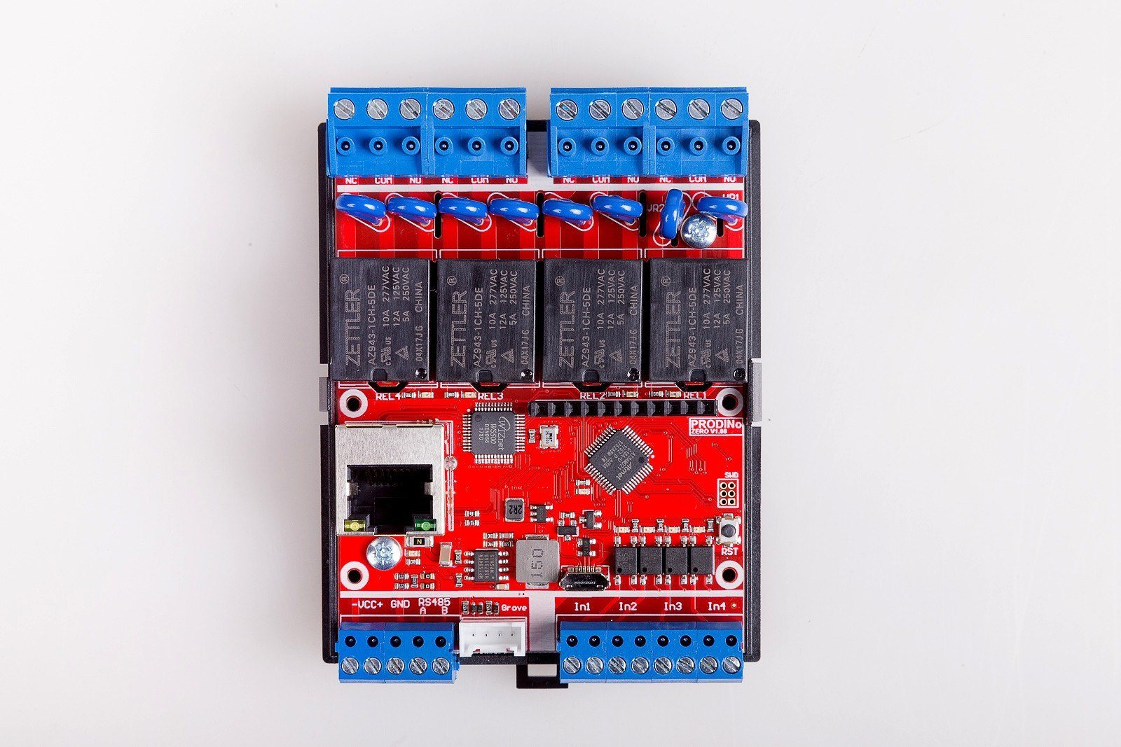 ProDino MKR Zero Ethernet V1 Board top