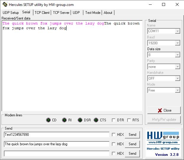 ProDino MKR Zero Examples RS485 Echo Terminal