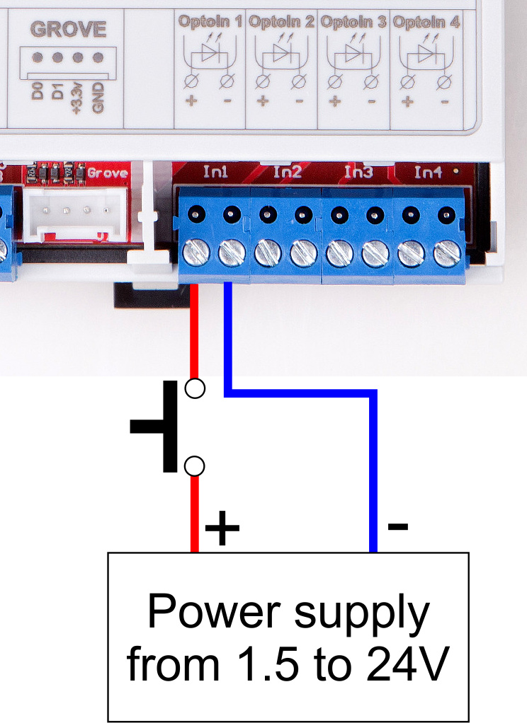 Powering isolated inputs
