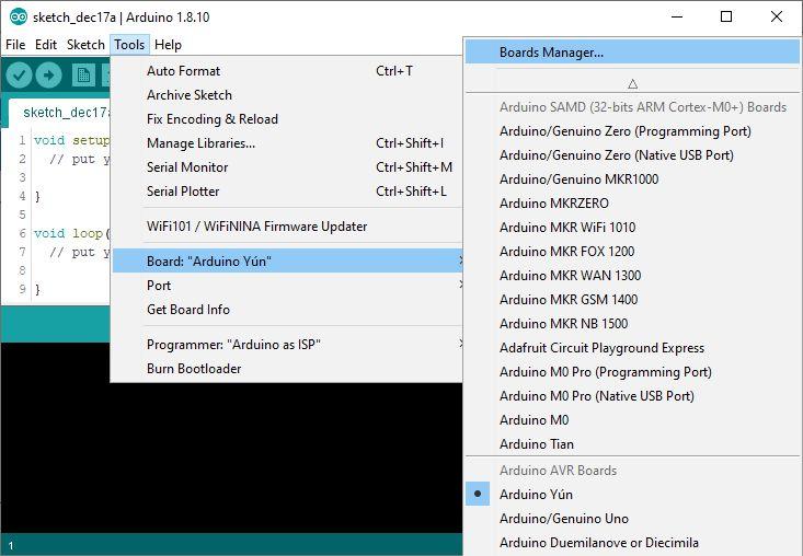 Installing custom board in Arduino IDE step 4