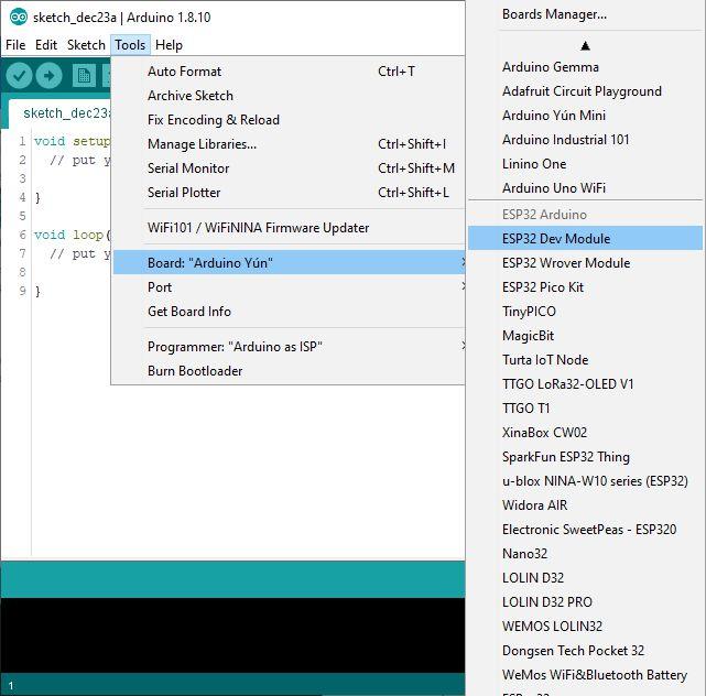Installing custom board in Arduino IDE step 6
