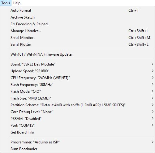 Installing custom board in Arduino IDE step 7