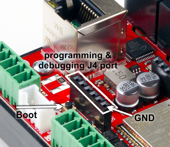 ProDinoESP32 Programming J4 port