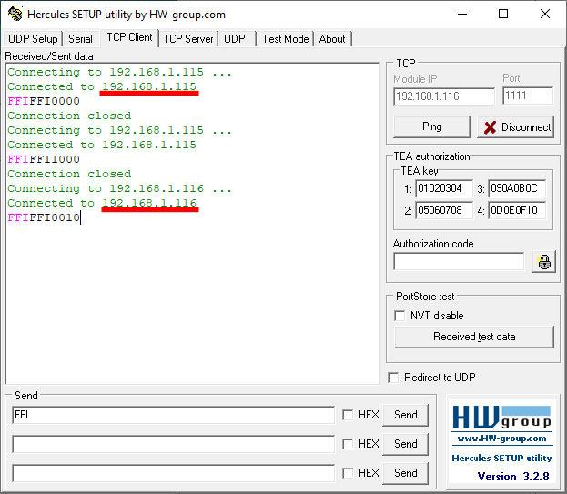 ProDino ESP32 TCP reads inputs example